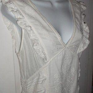 Tristan & Iseult White Cotton Dress Medium